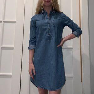 Button-up Denim Dress